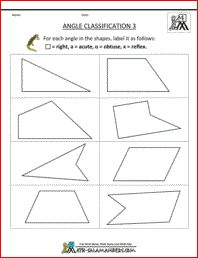 Identifying Angles | Worksheets, Math and Geometry worksheets