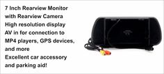 7-inch HD Rear View Monitor w/ Rear View Camera - 800x480