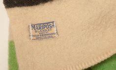 Vintage-Striped-Hudson-Bay-Type-Beigel-Wool-Blanket-Mariposa-Camp-Cottage