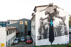 INO visited Iceland for the Wall Poetry 2016 event which took place on the streets of Reykjavik and was curated by Urban Nation. Inspired by a track of the Icelandic music band Samaris, the Greek artist spent over three days on this large building to crea…