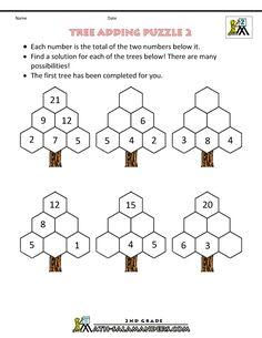 addition puzzle tree adding puzzle 2
