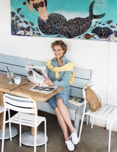 Lauren Hutton photographed by Brigitte Lacombe, styled by Jade Hobson