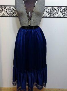 Midnight Blue Vintage 1950's / 1960's Petticoat by RetrosaurusRex, $22.99