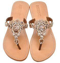 Mystique animal jeweled sandals