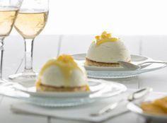Semiesfera de mousse de limón en el microondas con recetas.