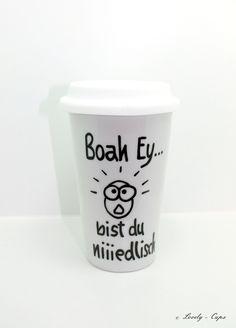 Becher & Tassen - Coffee to go Becher Porzellan Becher Thermobecher - ein Designerstück von Lovely-Cups bei DaWanda