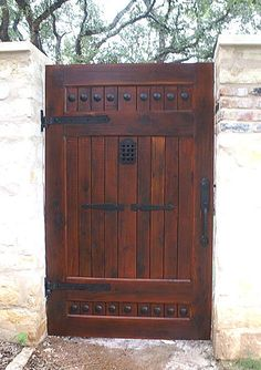 "Speakeasy Grille, Iron Door Viewer, ""Old Hacienda Style"" pc. Iron Speakeasy Door Viewer Kit) Iron Door Viewer, ""Old Hacienda Style"" pc. Tor Design, Gate Design, House Design, Front Gates, Entry Gates, Entrance, Entry Doors, Speakeasy Door, Diy Gate"