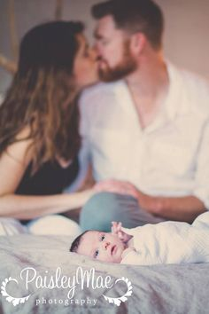 Cute lifestyle newborn photography