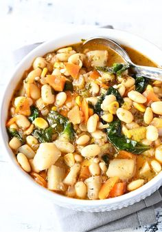 25 minutes · Vegetarian Gluten free · Serves 5 · This white bean soup is very healthy and under 20mins, quick dinner fix, which is very filling and delicious too. This vegetarian white bean soup is totally customizable by adding vegetables of your… More