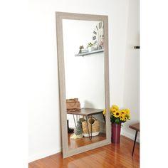 Tall Mirror, Wood Framed Mirror, Beveled Mirror, Beveled Glass, Framed Wall, Mdf Frame, Barn Wood Frames, Frames On Wall, Farmhouse Frames