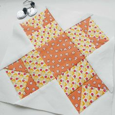 Farmer's Wife 1930s quilt block no. 76 - Nancy. Lovely, easy paper-pieced block.
