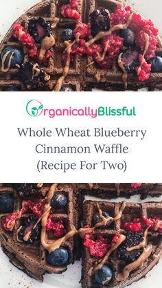 Whole Wheat Blueberry Cinnamon Waffle Recipe For Two  #breakfast #waffle #homemade #wafflerecipe #recipe #breakfastrecipe #blueberrycinnamon #blueberrycinnamonwaffle #blueberrycinnamonwafflerecipe #wholewheatwaffle #wholewheat #wholewheatblueberrycinnamonwaffle #wholewheatwafflerecipe #wafflefortwo
