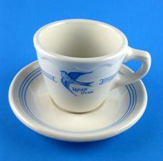 Vintage Bluebird Cafe Diner Restaurant Cup Saucer Logan Utah Syracuse China USA | eBay