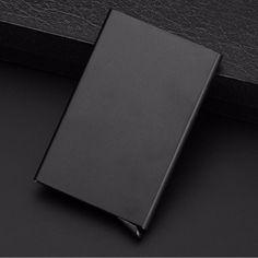 Business RFID Blocking Travel Card Wallet Automatic Pop up Click Slide Card Holder Bank Kart Case Aluminum alloy Card Case Bags Travel, Travel Cards, Metal Card Holder, Id Holder, Cd Cases, Rfid Wallet, Aluminum Metal, Aluminium Alloy, Pop Up