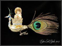 Victorian świąteczne Ornament - Fancy Peacock