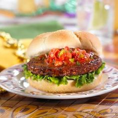 Morningstar Farms� Black Bean Burger with Cajun Sauce I got this recipe at http://porkrecipe.org/posts/Morningstar-Farms-Black-Bean-Burger-with-Cajun-Sauce-36465