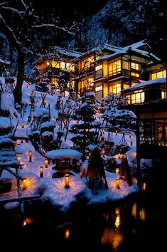 Winter in Japan Snow Scenes, Winter Scenes, Winter In Japan, Snow Japan, Japan Japan, Beautiful World, Beautiful Places, Japanese Architecture, Winter Wonder
