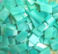 Your place to buy and sell all things handmade Mirror Mosaic, Glass Mosaic Tiles, Aqua Blue, Red And Pink, Blue Green, Buy Tile, Mosaic Supplies, Unique Tile, Tile Stores