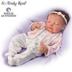 Ella Breathes When Touched So Truly Real® Lifelike Interactive Ashton-Drake Doll
