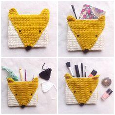Free crochet pattern for fox pencil case by STUDIO LEINZ