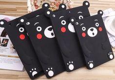 2016 Kawaii 3D Cartoon Bear Cases Cover For IPad 2 3 4 IPad Air 1 Air 2 Kumamon Case iPad Mini 1 2 3 4 Soft Silicone Cover Phone Case