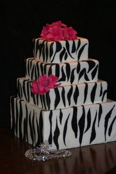 Zebra Cake :) i dont like the zebra on here but the cake size and shape is beaimus!
