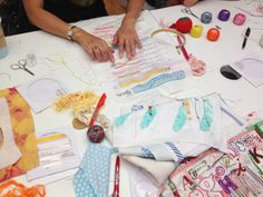 beautiful pics from an embroidery workshop with @Rebecca Ringquist