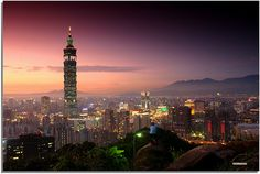 Taipei highest building in the world(currently) 'Taipei On Black Taipei 101, High Building, Birds Eye View, Our World, Staycation, Empire State Building, Taiwan, Photo Book, To Go