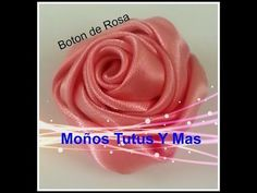 Paso a Paso BOTON DE ROSA Satinada pap RIBBON ROSE BUD Tutorial DIY Cinta Satin - YouTube
