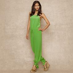 Silk Crepe de Chine Jumpsuit - Dresses Women - Ralph Lauren UK