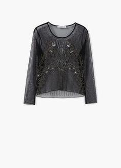 Bluzka haftowany tiul
