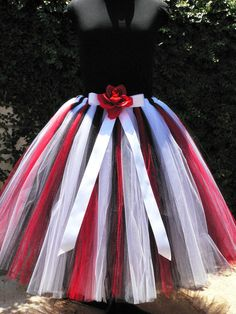 "Design Your Own Tutu - Custom Sewn Adult Pre-teen Teen Tutu - up to 36"" long - For Birthdays, Photo Shoots, Halloween - Size Small. $122.00, via Etsy."