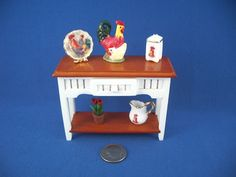Side table with Roosters.