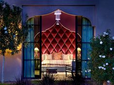 Casbah Cove is a lovely Moroccan style riad located on a hill in Palm Desert, about 2 hours outside of Los Angeles. Intricately designed by Gordon Stein Designs, craftsman from Morocco spent months constructing the estate. Exotic Bedrooms, Luxurious Bedrooms, Beautiful Bedrooms, Beautiful Homes, Small Bedrooms, Guest Bedrooms, Master Bedrooms, Moroccan Design, Moroccan Decor