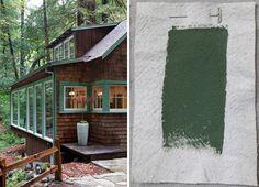 Best Exterior Outdoor Green House Paints, Benjamin Moore Cedar Path, Gardenista