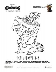 The Croods Coloring Page - Douglas