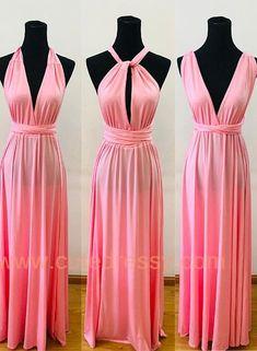 2c6500e72dd7 Charming Pink High Quality Multiway Bridesmaid Dress, Women Convertibl –  BeMyBridesmaid