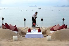 The Orient-Express Napasai Resort Invites Guests to Dine in their Very Own Sand Castle.  Set on a graceful hillside in a secluded position overlooking Ban Tai beach on the Gulf of Thailand, Orient-Express' stylish beach resort Napasai has launched a novel new way to enjoy the culinary delights of the hotel's menu whilst taking in the breathtaking scenery.