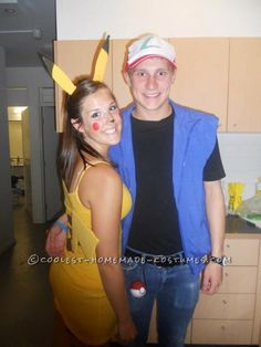 Cute Ash and Pikachu Couple Halloween Costume ...This website is the Pinterest of birthday cakes