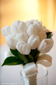 white tulip bouquet - for moms