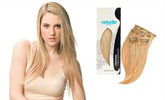 Rebelle Colored Hair Extensions | Clip in Hair Extensions Color Accents