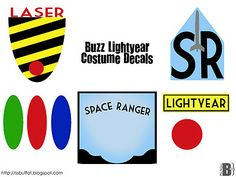 Buzz Lightyear decals... for next Halloween or the times that your kid just wants to be a superhero for the day! ;)