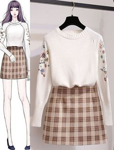 Perfect Clothing Colour Combinations For 2020 Kpop Outfits, Korean Outfits, Cute Outfits, Fashion Drawing Dresses, Fashion Dresses, Illustration Mode, Dress Sketches, Fashion Design Sketches, Ulzzang Fashion