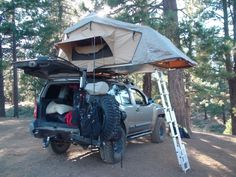 Show us your camping set-up.tent, camper and such. Truck Tent, Truck Camping, Camping Gear, Camping Hacks, Backpacking, Nissan Xtrail, Nissan Xterra, Expedition Trailer, Expedition Vehicle