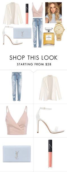 Sin título #241 by mar-01 on Polyvore featuring moda, Cédric Charlier, Dsquared2, Zara, Yves Saint Laurent, Michael Kors, NARS Cosmetics and Chanel