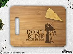Weeping Angel Don't Blink Cutting Those Onions Cutting Bo...
