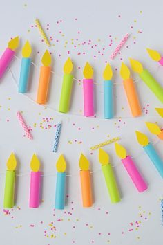 How To // Celebrate with this DIY Birthday Party Garland | Paper Crafts