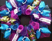 Spring Wreath, Summer Wreath, Dragonfly Wreath, Flower Wreath, Deco Mesh Wreath, Ribbon Wreath
