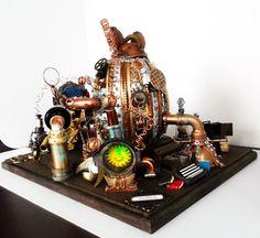 Steam Punk Ostrich Egg Time Machine