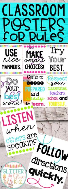 Display your classroom rules with a neon theme! Included are twelve different classroom rules with a black chalkboard background, white and neon lettering, and fun designs! Keywords: back to school, rule posters, posters for rules, teachers, kindergarten teacher, first grade, second grade, third grade, classroom management, classroom décor, bright classroom, neon classroom